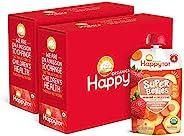 Happy Tot Organics Super Bellies Stage 4 Immune + Digestive Support Blend Organic Bananas, Carrots & Straw