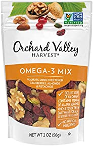 ORCHARD VALLEY HARVEST Omega-3 Mix, Non-GMO, No Artificial Ingredients, 2.0 ounces (Pack of 14)