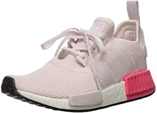 adidas 阿迪达斯 Originals 儿童 NMD_r1 跑鞋 White/White/Orchid Tint 7 M US 儿童 Nmd_r1