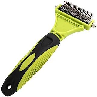 Pet Dematting 梳子,2 面不锈钢底层耙子宠物*工具,用于狗和猫,*轻松去除缠结、垫子、打结