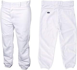 RAWLINGS 青年男孩豪华纽扣棒球裤,松紧裤,腰带环,白色(尺码:XS 码)