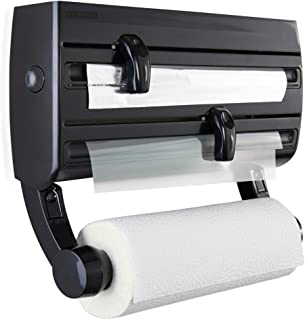 Leifheit Parat F2 Wall-Mounted Foil, Cling Film and Kitchen Roll Holder Dispenser