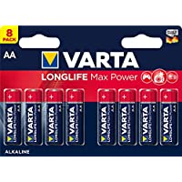 Varta Max Tech AA (LR6) 堿性電池 8 件裝