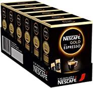 NESCAFÉ GOLD Typ ESPRESSO,高品质咖啡豆,含有天鹅绒奶油,6件装(25 x 1.8克贴纸)