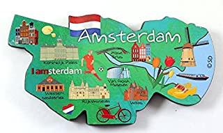 阿姆斯特丹荷兰装饰头木质磁铁