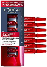 L'Oreal Paris 巴黎欧莱雅 Ampullen安瓿瓶,Revitalift Laser X3,抗衰老面部护理,7天用量,羟基乙酸,7 x 1