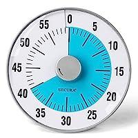 Secura 60 分钟视觉倒计时器 7.5 英寸超大时间管理工具 适用于儿童、教师和成人 蓝色 7.5-Inch TM022-BL
