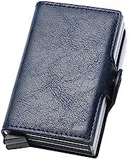 卡片夹,男士信用卡夹,超薄卡套前袋防盗 RFID 自动弹出旅行薄款男式钱包