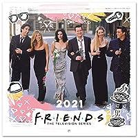 Official Friends 2021 挂历 11.8 x 11.8 英寸(16 个月)家庭计划日历 2021,CP21062