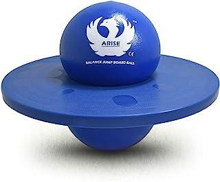 Pogo Ball with Trick Balance Bounce Board,跳跃 Lolo 球带防滑握把板,适合6岁以上的儿童、青少年和成人,承重高达150磅(约59.9公斤),海洋蓝
