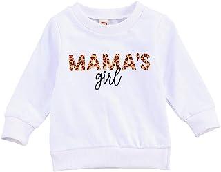 FYBITBO 幼儿婴儿女孩运动衫长袖豹纹套头衬衫时尚毛衣秋季服装 豹纹色 12-18 Months