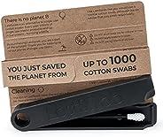 LastSwab 可重复使用的棉签用于耳朵清洁 - 环保 Q 提示 - 生物基便携盒 - 易于清洁 - 企鹅黑色