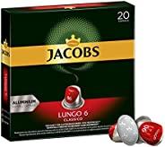 Jacobs 咖啡胶囊 经典稀饮意式特浓(Lungo Classico),浓度6/12,200粒兼容Nespresso,10 x 20杯