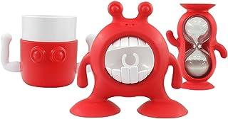 Prince Lionheart Eyefamily 浴室套装   牙刷架,水龙头延长器,牙齿刷定时器和杯子   *浴室习惯套件   浴室水槽 - 闪光灯紫红色