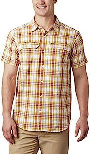 Columbia 男式 Silver Ridge 短袖 Seesucker 衬衫,吸湿排汗,*