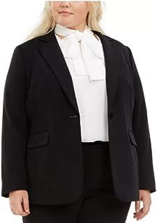 Bar III 女式纯色单扣西装外套 黑色 16W