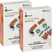 Starbucks 星巴克 Via 速溶哥伦比亚中度烘焙咖啡(26支)