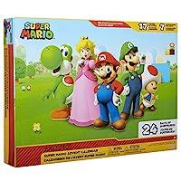 Nintendo 任天堂 圣誕日歷 超級馬里奧 圣誕假期日歷,含 17件2.5英寸(約6.35厘米)關節可活動人偶和7件配件, 24天倒數,彈出式環境