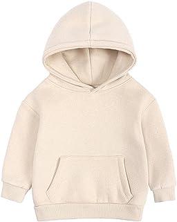 MODNTOGA 男宝宝长袖基本纯色连帽套头运动衫带口袋