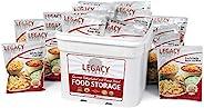长期脱水食品存储器 - 120 个大菜菜菜肴 - 29 磅 - 急救准备冷冻干燥供应套件 - 单个紧急生餐
