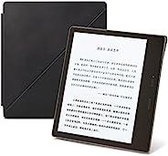 Kindle Oasis立式真皮保护套,适用于亚马逊Kindle Oasis电子书阅读器(第九代 – 2017年发售),午夜黑