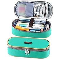 铅笔盒,Homecube 大容量笔袋化妆袋耐用学生文具 绿色