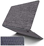 MacBook Air 13 英寸保护套 2020 2019 2018 发布 A2179 A1932, G JGOO MacBook Air 2020 保护套, 柔软触感面料硬壳保护套带键盘保护套适用于 Mac Air