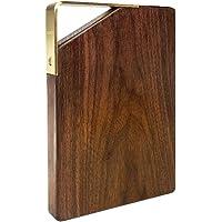 胡桃木砧板 - 木砧板,适用于厨房、奶酪、面包、蔬菜和水果,切菜板带手柄小号 8.66 x 6.02 x 1 英寸