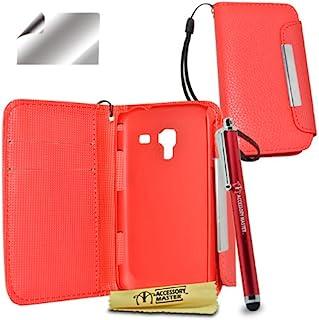 配件主包由皮革/屏幕保护膜/手写笔组成,适用于三星 Galaxy Ace 2 i8160 红色