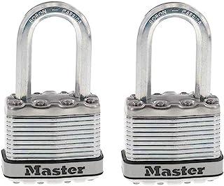 Master Lock M1XKADCCSEN 镁层压挂锁 4.45 厘米宽钢 5/16 直径,2.54 厘米防震 1-1/2 Inch Shackle M1XTLFCCSEN