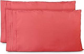 Cosy House 系列枕套 - 1500 系列 - 奢华枕套 2 件套 - 高级超软*店优质枕套 - 凉爽无皱 - 低*性 Brink Pink King unknown