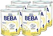 Nestlé 雀巢 BEBA 婴儿奶粉 1段(适用于初生婴儿),6罐装(6 x 800g)