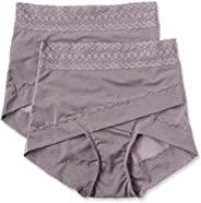 ATSUGI 厚木 矫正型内裤 骨盆矫正 骨盆交叉带束腹内裤 提臀(2条装) 棕色 M