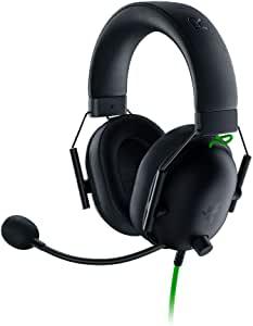 Razer 雷蛇 BlackShark V2 X 游戏耳机:7.1 环绕声 - 50 毫米驱动器 - *海绵缓冲垫 - PC,PS4,PS5,Nintendo Switch,Xbox One,Xbox 系列 X 和 S,移动 - 3.5 毫米音频插孔 - 黑色
