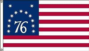 美国国旗公司尼龙 Bennington 历史旗帜 带帆布头和索环 2-Foot by 3-Foot