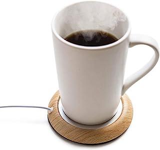 杯垫 保温 USB 茶杯 木纹 办公室用 温热 饮用 咖啡杯 暖马桶 附带日语说明书D314-C-BJ