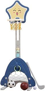 Vatocu 篮球圈玩具 4 合 1 运动活动中心可调节高度篮球圈玩具篮球/足球/高尔夫球/投掷玩具适合 3 4 5 6 岁儿童的*佳礼物