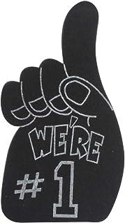 ArtCreativity We're Number 1 泡沫手,Team Spirit 泡沫手指,1 号啦啦队绒球适用于体育赛事,炫酷男孩卧室装饰,有趣的运动派对礼品和礼物