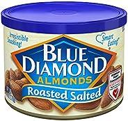 Blue Diamond Almonds 烤盐杏仁,6 盎司(约 170.1 克)(12 罐)