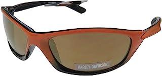 Harley-Davidson 男士生活方式黑橙色带棕色镜片太阳镜 HDS616OR-1F