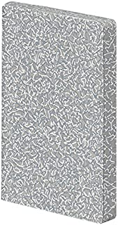 "nuuna 设计笔记本 Graphic S -""Muse"" - 牛仔标签材料,软盖,迷你点网格,颜色剪裁,176 页高级纸张,DIN A6,白色和灰色"