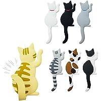 Mike Home 可爱猫冰箱磁贴 适合办公室磁贴 完美的动物爱好者礼物 7 件套
