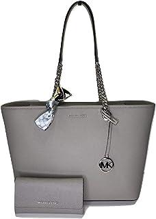 Michael Kors 迈克·科尔斯 Shania 大号 EW 链式手提包 配有配套的三折钱包和紧身围巾