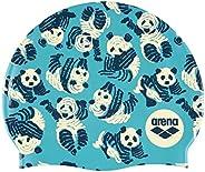 ARENA 硅胶泳帽 适合男士和女士,印花和单色。