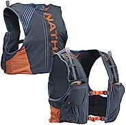 Nathan 男式水壶包/跑步背心 - VaporKrar 4L 2.0-4L 容量,配有两个 20 盎司软水壶,水壶背包 - 跑步、马拉松、徒步、户外、骑行等