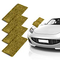 CAMTOA 汽车刮花除尘布,纳米魔法修复划痕,多功能汽车清洁漆,表面抛光,水点,锈迹和划痕去除剂 [4 件装]