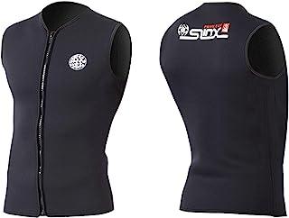 Dizokizo 男式女式潜水服上衣 3 毫米保暖无袖氯丁橡胶潜水背心,适用于划独木舟冲浪皮划艇桑拿泳衣