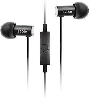 Final E2000 入耳式耳机,配黑色麦克风,黑铝色