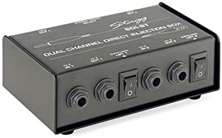 Stagg 2 通道被动式 DI 盒带单声道/立体声开关 SDI-ST