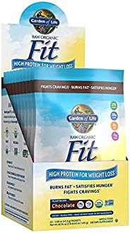 Garden of Life Meal Replacement - Raw Organic Fit Vegan Nutritional Shake for Weight Loss, Chocolate, 10 Count